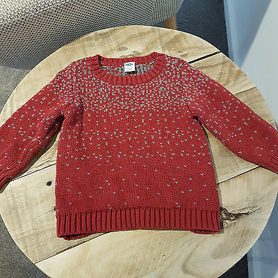 Baby Girl Winter Knit Fair Isle Long Sleeve Jumper Cardigan Top Old Navy Size 0