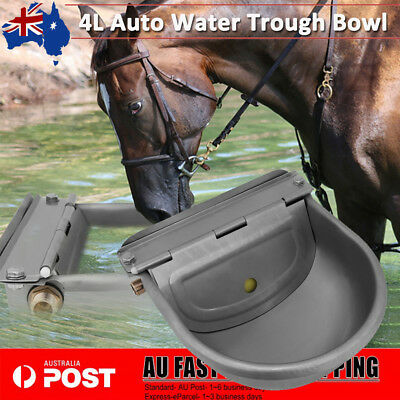 4L Automatic Water Trough Hose Stainless Sheep Dog Chicken Cow Auto Fill Bowl