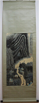 Excellent Chinese 100% Hand Painting & Scroll Landscape By Li Keran 李可染 YHBDZ126