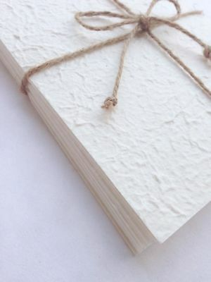 A5 White 20 Sheets of Handmade Mulberry Paper - Tear Bear, Cards, Invitations
