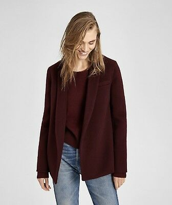 0d5cea9a02e2 Theory Women's Pleated Double-Faced Wool-Cashmere Jacket Size 2. SR $645