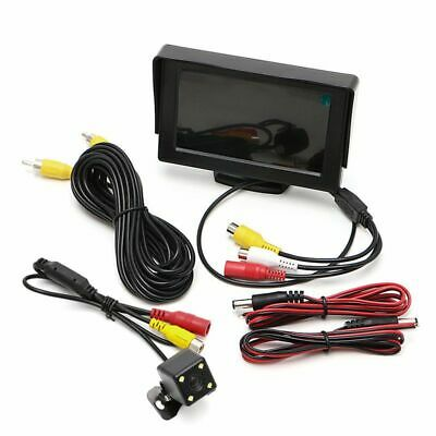"4.3"" Auto Car Rear View TFT LCD Monitor + Night Vision Backup Reverse Camera Kit"