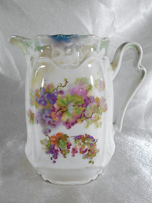 "Superbe Pichet / Pot A Lait "" Decor Floral "" Porcelaine De Limoges Ou Paris"