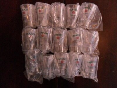 (15) NEW Jameson Irish Whiskey Hard Plastic Shot Glasses