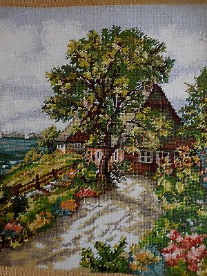 Tapestry Max 146 Gold Professionally Worked Beautiful House And Garden Complete