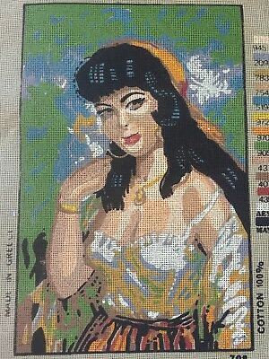 VINTAGE Unworked ELVICO TAPESTRY CANVAS Made In Greece MANUELA TORINO GYPSY