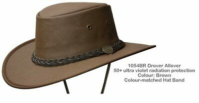 Barmah 1054 BR Brown Drover Allover Canvas Hat