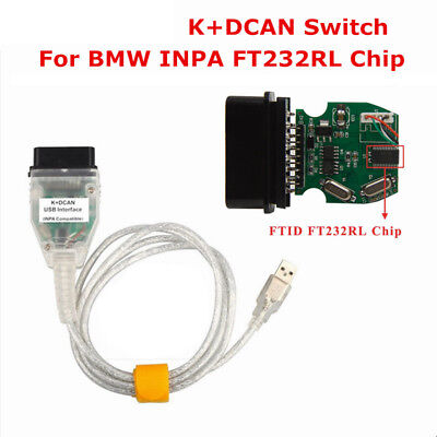 INPA K+DCAN USB Interface OBD2 OBDII 16 Pin Car Diagnostic Tool Cable For BMW HQ