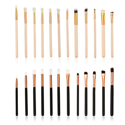 12PCS Eyeshadow/Concealer/Eyeliner/Blending/Eyebrow Eye Lip Make up Brushes Set