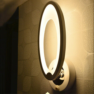 Acrylic Round LED Bedroom Bedside Wall Lamp Simple Modern Aisle Corridor Lights