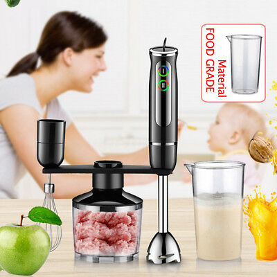 600W Electric Food Chopper Set Hand Blender Mixer Food Beater Processor AU