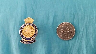 Australian Legion Of Ex Service Clubs- Cabra- Vale Button Hole Badge