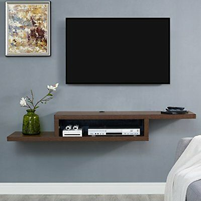 Tv Stand Console Wall Mount Floating Media Center Wood Furniture 60