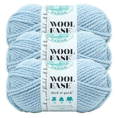 Urban Camo Lion Brand Yarn 640-616 Wool-Ease Thick /& Quick Pack of 3 skeins