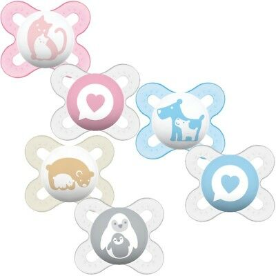 MAM Start Soother Twin Pack - Age 0-2m CHOICE OF DESIGN BOY/GIRL) (A98)