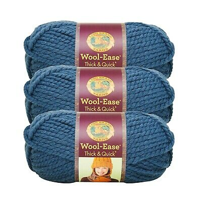 Lion Brand 640-525 Wool-Ease Thick /& Quick Yarn-Wild Strawberry 3Pk