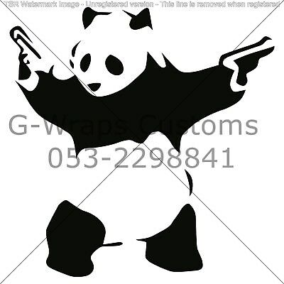 "Panda JDM Funny car sticker universal for all cars 6"" vinyl  High quality JDM"