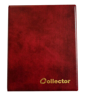 RED COLLECTOR HOLDER COIN ALBUM FOR 60 COINS IN COIN Self Adhesive Holders