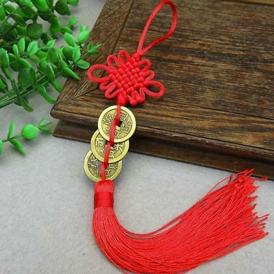 FengShui Chinese Coins For gGood Luck PROSPERITY PROTECTION Charm Tassel Pendant