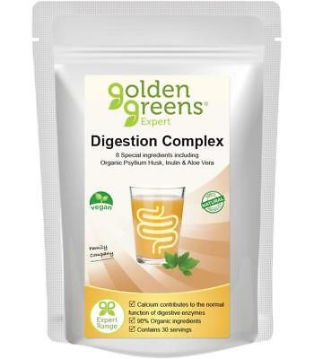 Golden Greens® Digestion Complex - Psyllium Husk, Aloe Vera, Inulin, Peppermint