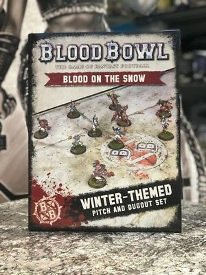 Blood on the Snow  Winter Themed Pitch and Dugout Set  ( 200-10 ) - Blood Bowl