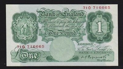 Great Britain Bank Of England 1 Pound 1934-39 P#363c AUNC Condition Nice Note