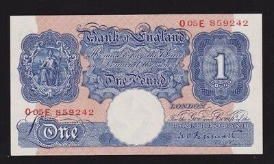 Great Britain Bank Of England 1 Pound 1940-48 P#367a UNC Condition Nice Note