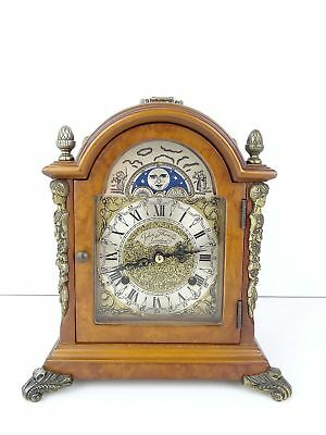 John Thomas Vintage Antique Mantel Shelf MOONPHASE Clock (Warmink Hermle era)