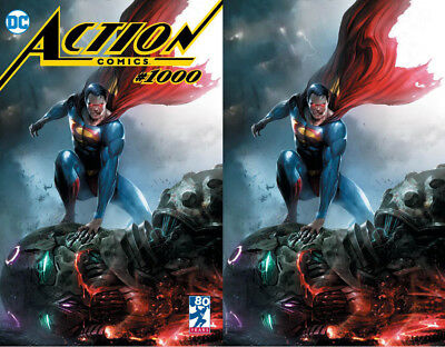 Action Comics 1000 DC Francesco Mattina Trade Virgin Set 2 Variant LTD 1000