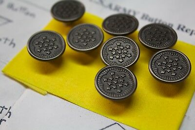 WWII US Replacement 13 Star Metal Buttons===You get 7 totally===