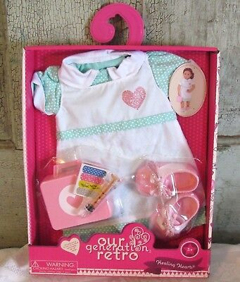 """Our Generation HEALING HEARTS Nurse Doctor outfit set American 18"""" Girl Doll NEW"""