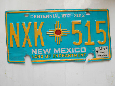 plaque immatriculation  usa new mexico license plate old americaine 515