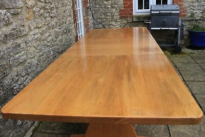 Gorgeous 9ft /280cm Rare Solid Chestnut Country Refectory Extending Dining Table