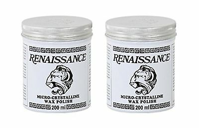2 pk Renaissance Wax - Micro-Crystalline Wax Polish - 65ml (2.25oz) Can bonus