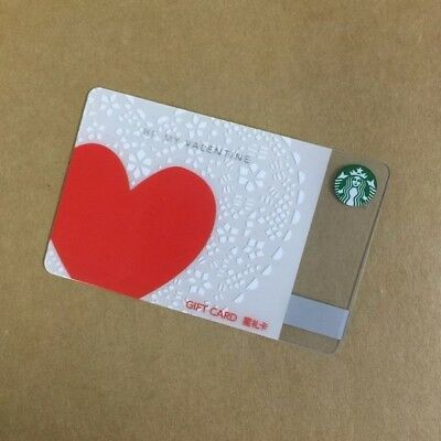 2017 Starbucks China Spical Edition Be My Valentine Gift Card
