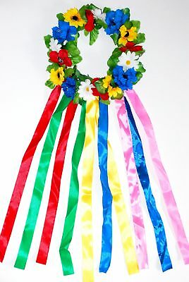 """Headpiece """"Woven wreath"""" with ribbons."""