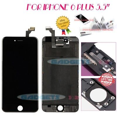 """For iPhone 6 Plus 5.5"""" Black Display Touch LCD Screen Replacement LCD Digitizer"""