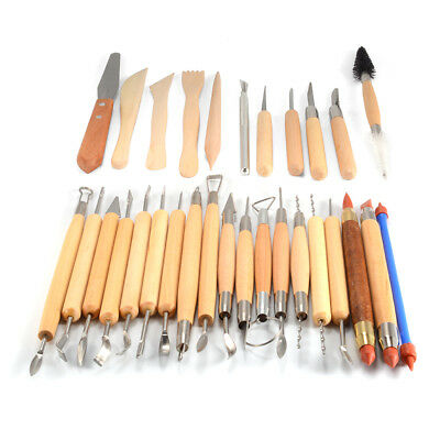 30x Pottery Sculpture Tools Clay Sculpting Carving Polymer Modeling Craft AC1143