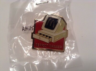 McDonalds PERFECT DRAWER Collectable Crew/Employee Pin/Flair NIP Sealed
