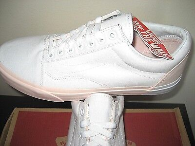 Vans Womens Old Skool Blocked Pearl Pink True White Skate Shoes Size 10 NWT 53e5723d1d