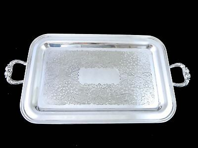 Vintage SILVERPLATE ON COPPER SERVING TRAY Marked