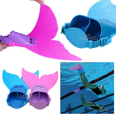 Child Kids Girls Boys Mermaid Mono Fin Swimmable Tail Flippers Swimming Costume
