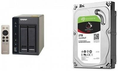 QNAP 4TB TS-253A-8G with 2 x Seagate ST2000VN004 Ironwolf HDD Bundle