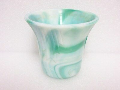 Marbelized Akro  Agate  Graduated  Darts  # 305 Size Vase - Pot
