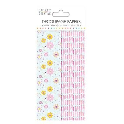 Simply Creative Watercolour Floral Decoupage, Decopatch Papers SCDEC029