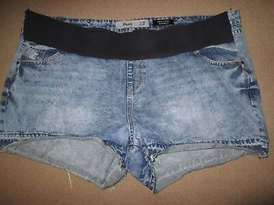 Lovely Size 18 Denim New Look Maternity Shorts See Pics!!