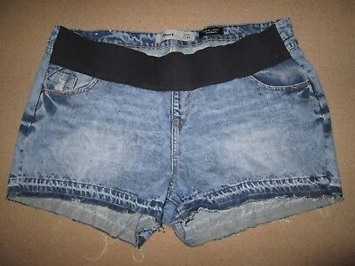 Lovely Size 16 Denim New Look Maternity Shorts See Pics!!