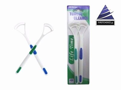 Brand new Soft Tongue Cleaner oral Hygiene Fresh Breath twin pack