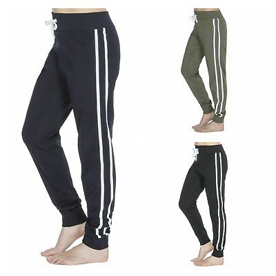 Ladies Elasticated Waist Cotton Tracksuit Sport Jog Jogging Gym Bottoms 10-24