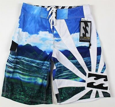 f360a59a9e NWT Billabong Andy Irons Rising Sun Boardshorts MENS 32 Blue Island Scene